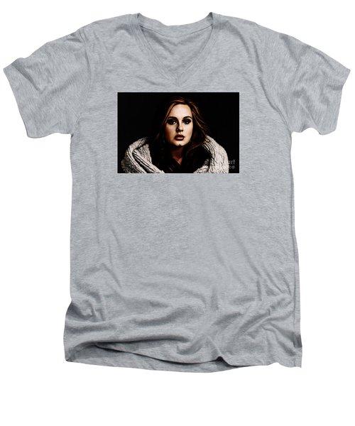 Adele Men's V-Neck T-Shirt by The DigArtisT