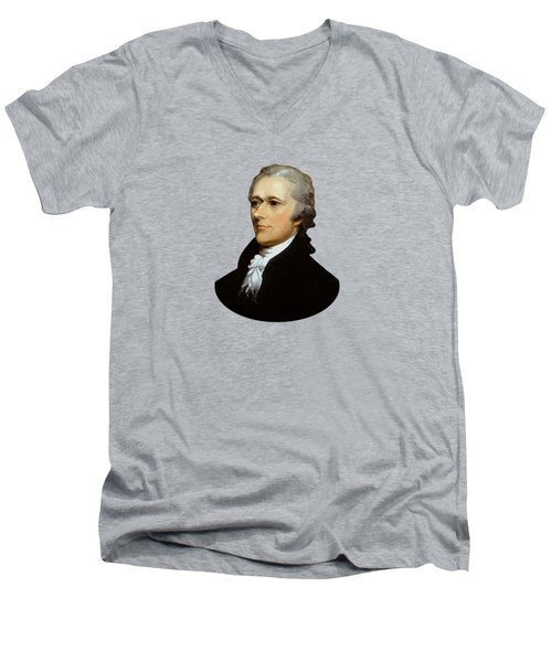 Alexander Hamilton Men's V-Neck T-Shirt by War Is Hell Store