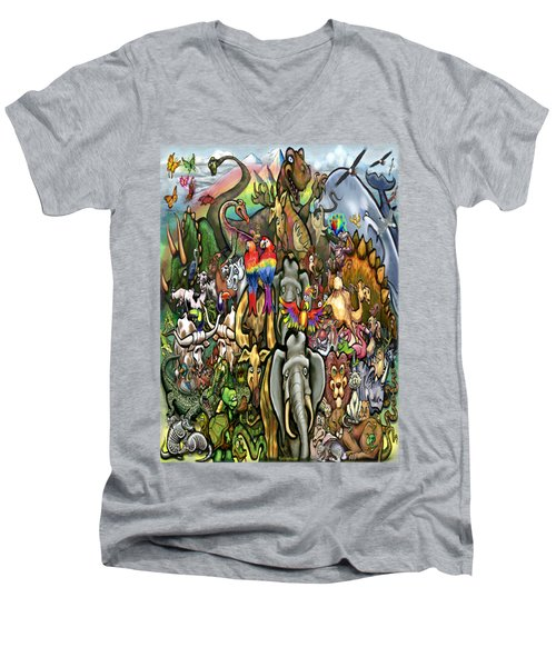 All Creatures Great Small Men's V-Neck T-Shirt by Kevin Middleton