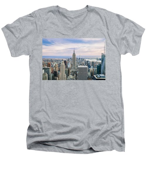 Amazing Manhattan Men's V-Neck T-Shirt by Az Jackson