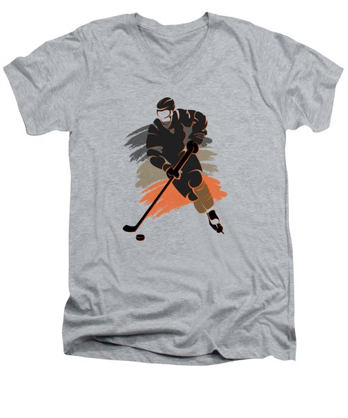 Anaheim Ducks Player Shirt Men's V-Neck T-Shirt by Joe Hamilton