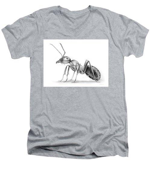 Ant Men's V-Neck T-Shirt by Greg Joens