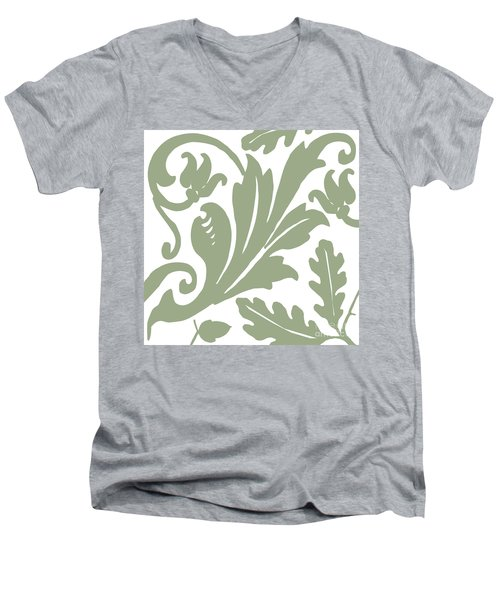 Arielle Olive Men's V-Neck T-Shirt by Mindy Sommers