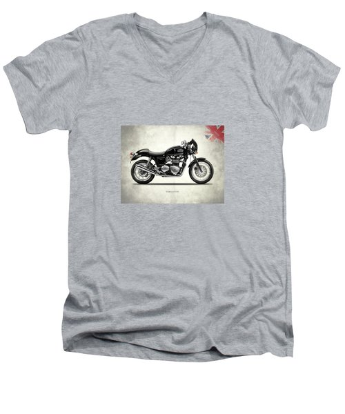 Triumph Thruxton Men's V-Neck T-Shirt by Mark Rogan