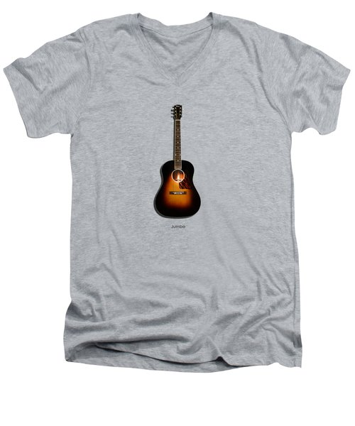Gibson Original Jumbo 1934 Men's V-Neck T-Shirt by Mark Rogan