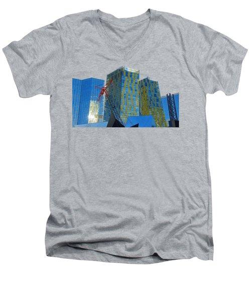 Under Construction Men's V-Neck T-Shirt by Debbie Oppermann