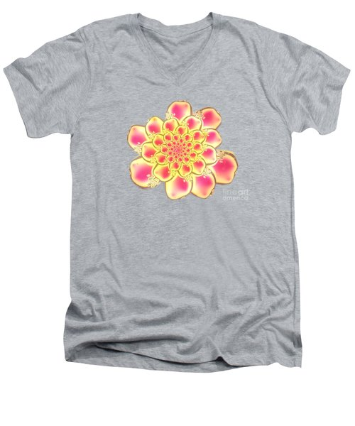 Lotus Men's V-Neck T-Shirt by Anastasiya Malakhova