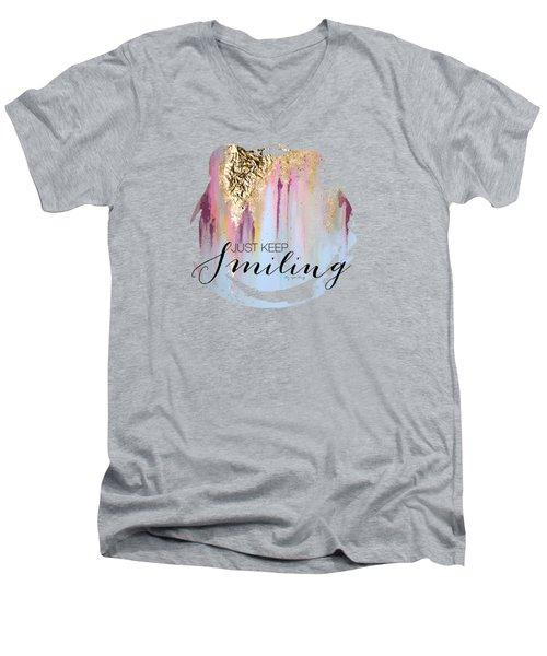Makayla Men's V-Neck T-Shirt by Liz Sparling