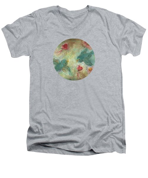Lovebirds Men's V-Neck T-Shirt by Mary Wolf