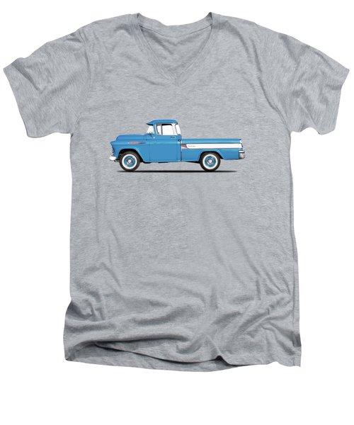 Cameo Pickup 1957 Men's V-Neck T-Shirt by Mark Rogan