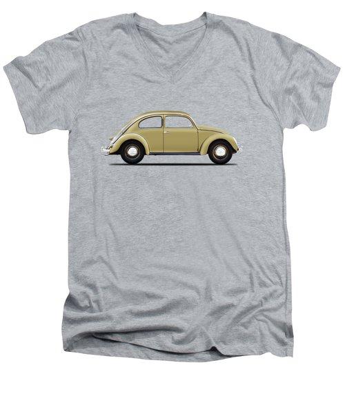 Vw Beetle 1946 Men's V-Neck T-Shirt by Mark Rogan