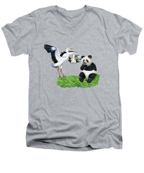 Bundle Of Joy Men's V-Neck T-Shirt by Glenn Holbrook