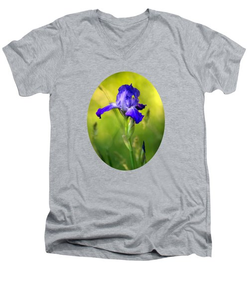 Violet Iris Men's V-Neck T-Shirt by Christina Rollo