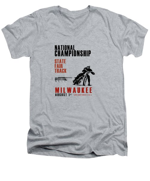 National Championship Milwaukee Men's V-Neck T-Shirt by Mark Rogan