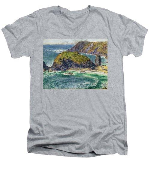 Asparagus Island Men's V-Neck T-Shirt by William Holman Hunt