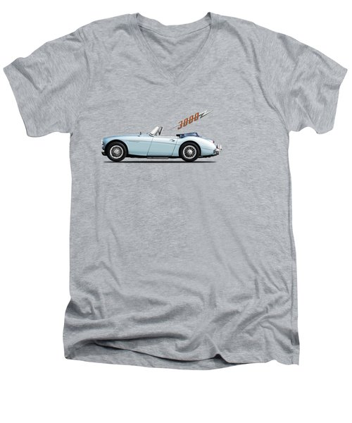 Austin Healey 3000 Mk3 Men's V-Neck T-Shirt by Mark Rogan