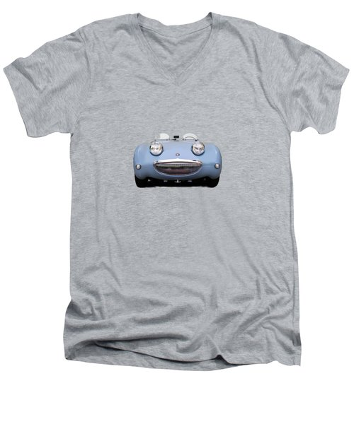 Austin Healey Sprite Men's V-Neck T-Shirt by Mark Rogan