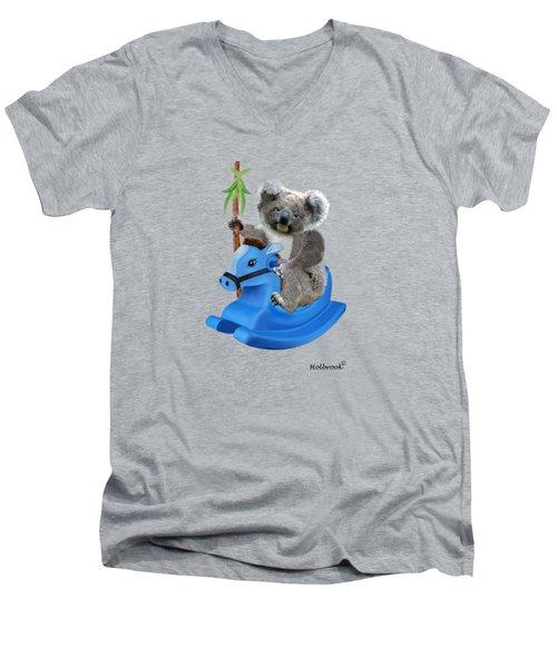 Baby Koala Buckaroo Men's V-Neck T-Shirt by Glenn Holbrook