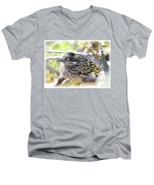 Baby Roadrunner  Men's V-Neck T-Shirt by Saija Lehtonen