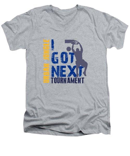 Basketball I Got Next 2 Men's V-Neck T-Shirt by Joe Hamilton