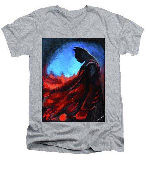 Batman's Mercy Men's V-Neck T-Shirt by Brandy Nicole Neal