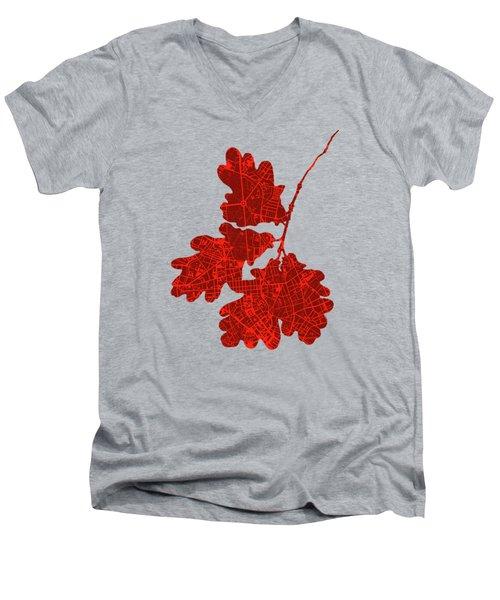 Berlin Classic Map Men's V-Neck T-Shirt by Jasone Ayerbe- Javier R Recco