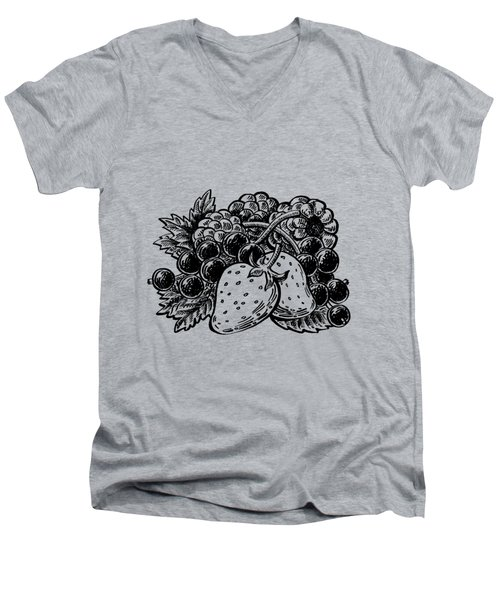 Berries From Forest Men's V-Neck T-Shirt by Irina Sztukowski