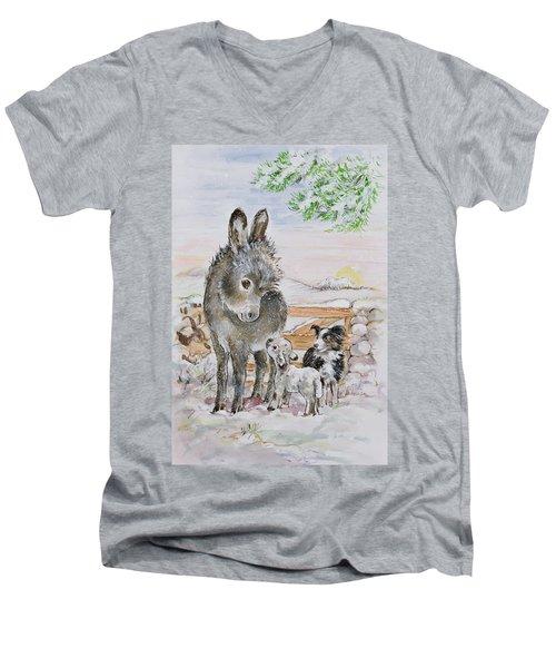Best Friends Men's V-Neck T-Shirt by Diane Matthes