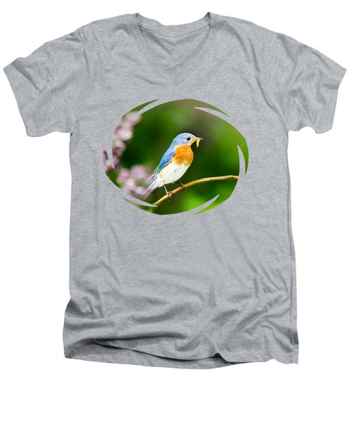 Bluebird Men's V-Neck T-Shirt by Christina Rollo