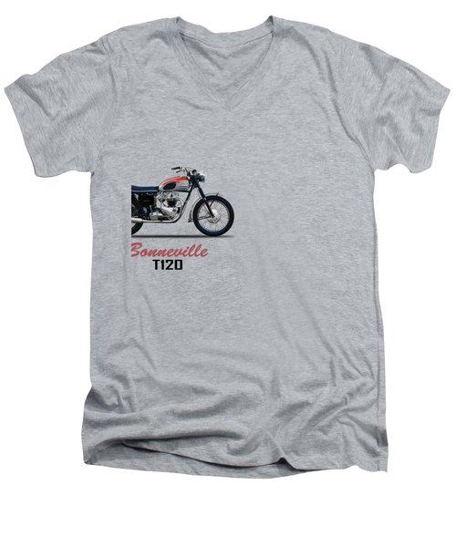 Bonneville T120 1962 Men's V-Neck T-Shirt by Mark Rogan