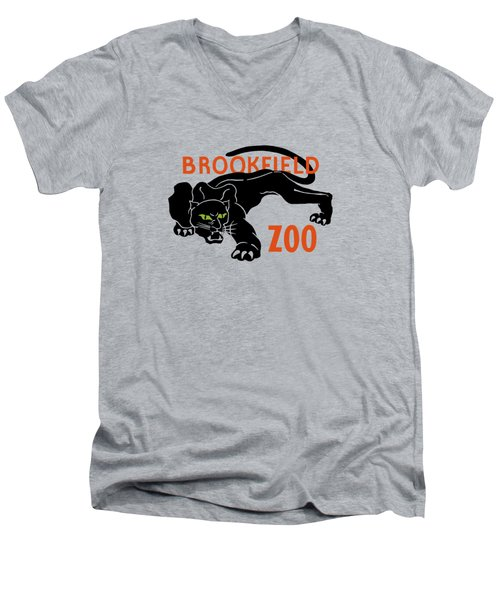 Brookfield Zoo Wpa Men's V-Neck T-Shirt by War Is Hell Store