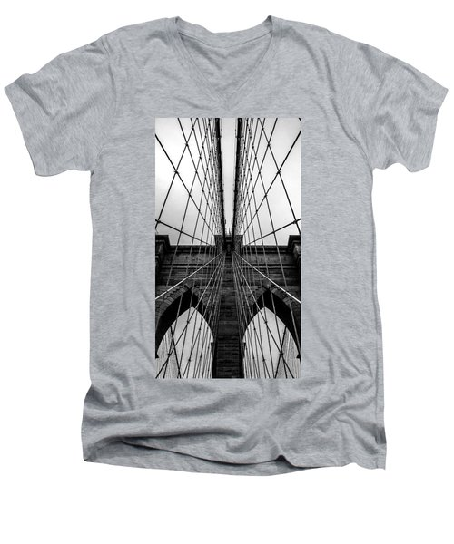 Brooklyn's Web Men's V-Neck T-Shirt by Az Jackson