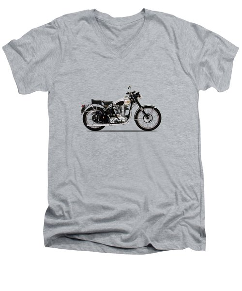 Bsa Gold Star 52 Men's V-Neck T-Shirt by Mark Rogan