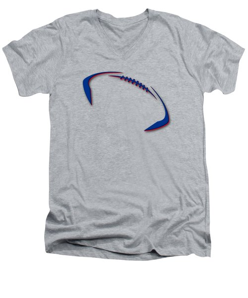Buffalo Bills Football Shirt Men's V-Neck T-Shirt by Joe Hamilton