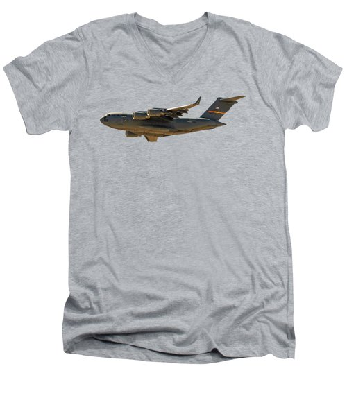 C-17 Globemaster IIi Men's V-Neck T-Shirt by Mark Myhaver