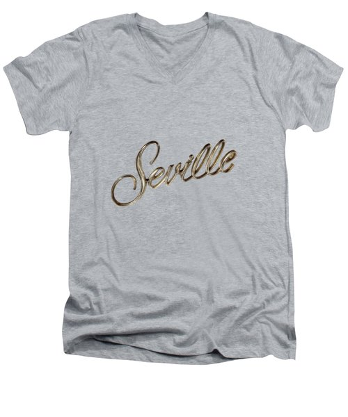 Cadillac Seville Emblem Men's V-Neck T-Shirt by YoPedro