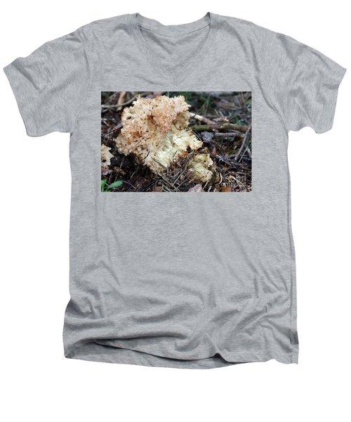 Cauliflower Fungus Men's V-Neck T-Shirt by Michal Boubin