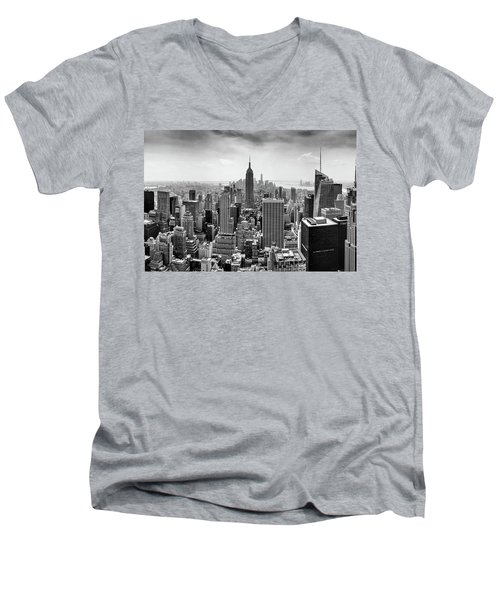 Classic New York  Men's V-Neck T-Shirt by Az Jackson