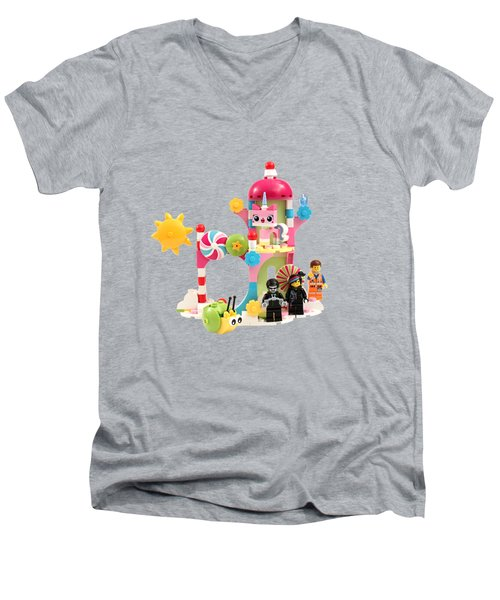 Cloud Cuckoo Land Men's V-Neck T-Shirt by Snappy Brick Photos