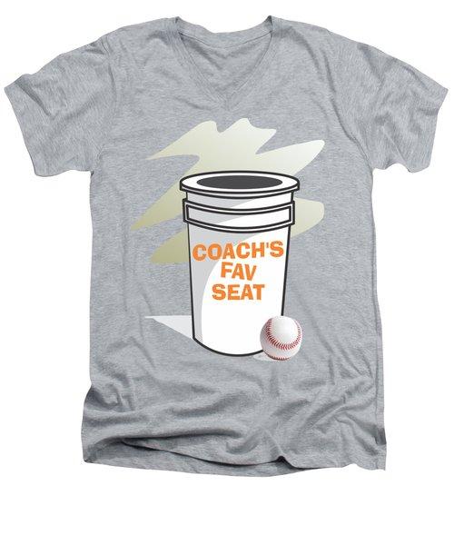 Coach's Favorite Seat Men's V-Neck T-Shirt by Jerry Watkins