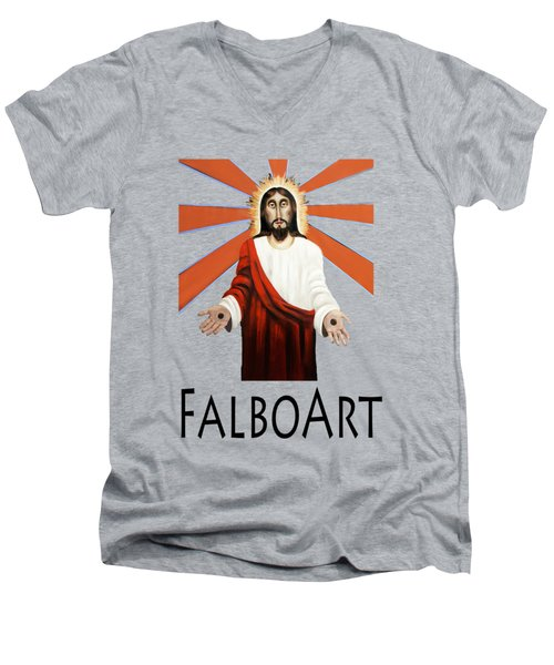 Come T-shirt Men's V-Neck T-Shirt by Anthony Falbo