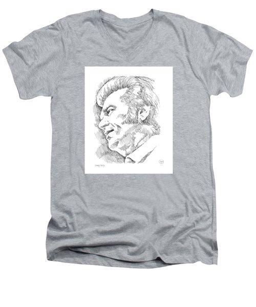 Conway Twitty Men's V-Neck T-Shirt by Greg Joens