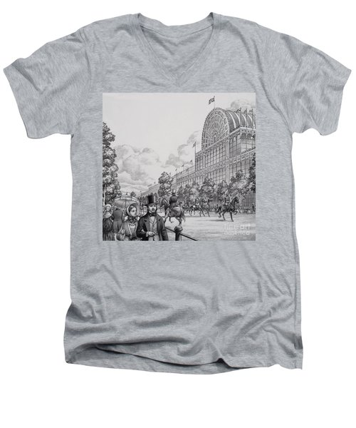 Crystal Palace Men's V-Neck T-Shirt by Pat Nicolle