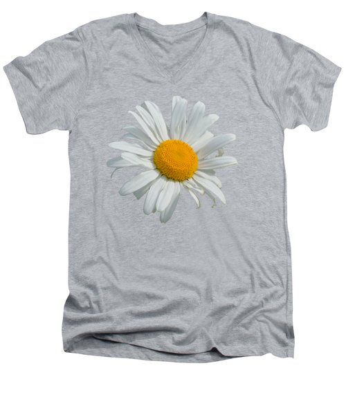 Daisy Men's V-Neck T-Shirt by Scott Carruthers