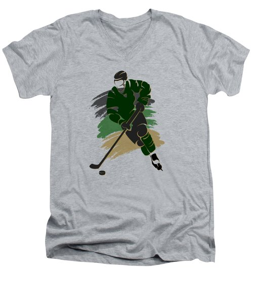 Dallas Stars Player Shirt Men's V-Neck T-Shirt by Joe Hamilton