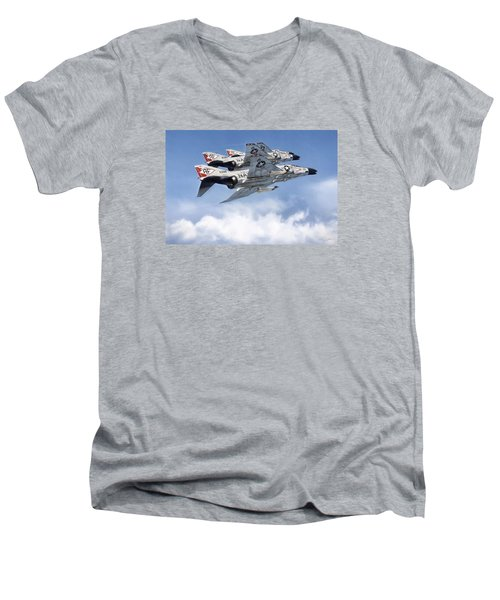 Diamonback Echelon Men's V-Neck T-Shirt by Peter Chilelli