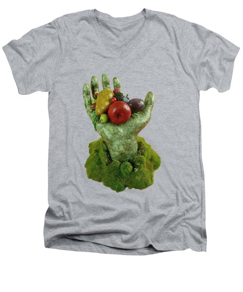 Divine Nutrition Men's V-Neck T-Shirt by Przemyslaw Stanuch