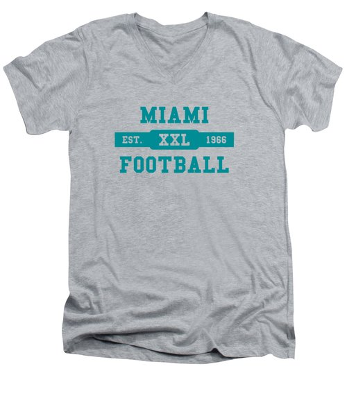 Dolphins Retro Shirt Men's V-Neck T-Shirt by Joe Hamilton