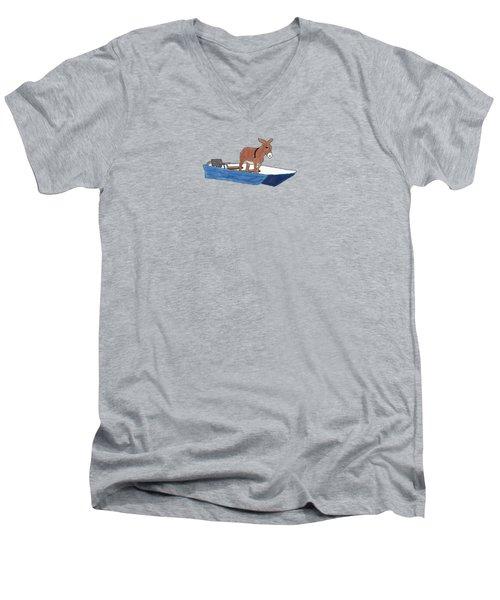 Donkey Daybreak Men's V-Neck T-Shirt by Priscilla Wolfe