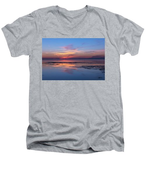 Men's V-Neck T-Shirt featuring the photograph Draw The Line by Thierry Bouriat